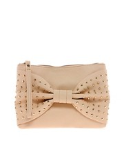 New Look Stud Bow Gracie Clutch Bag
