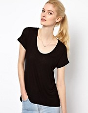 Splendid  Lux  T-Shirt aus drapiertem Jersey