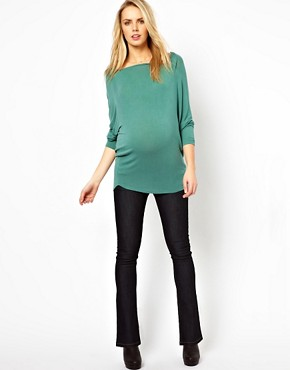 Image 4 ofASOS Maternity Lennox Jeans With Stretch Waistband