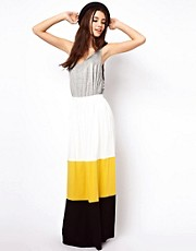 ASOS Maxi Skirt in Colourblock