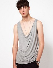 Unconditional Vest with Draped Front