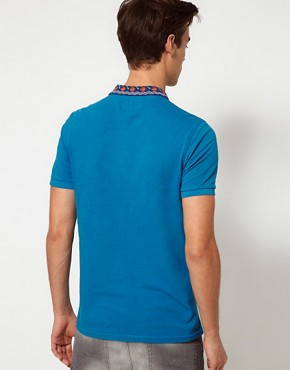 Image 2 ofASOS Polo Shirt With Printed Collar