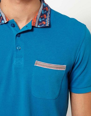 Image 3 ofASOS Polo Shirt With Printed Collar