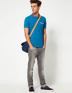 Image 4 ofASOS Polo Shirt With Printed Collar