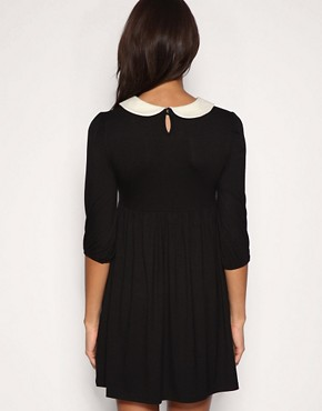 Image 2 ofASOS Peterpan Collar Jersey Dress
