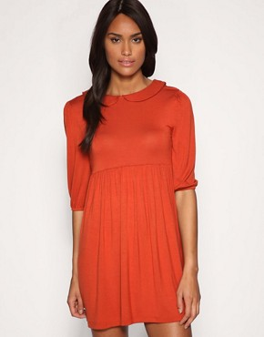 Image 1 ofASOS Peterpan Collar Jersey Dress