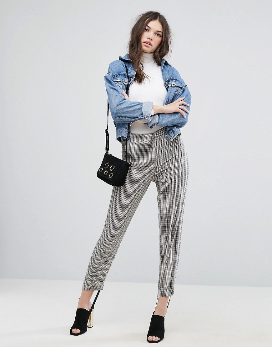 ASOS Tailored Herritage Houndstooth Pant with Stirrup - Check