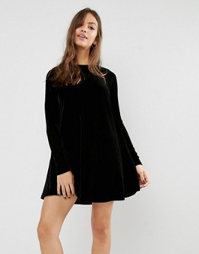 Glamorous Long Sleeve Swing Dress