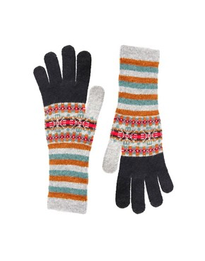 Image 1 ofPaul Smith Fairisle Long Gloves