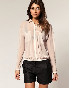 Image 1 ofASOS Shirt with Slouchy Pockets