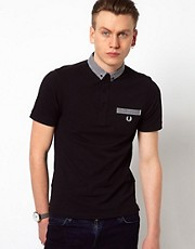 Fred Perry Polo with Gingham Check Collar