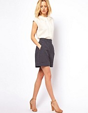 ASOS Shorts in Premium Spot Jacquard