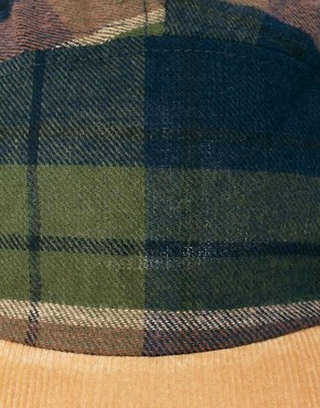 Image 3 of ASOS 5 Panel Cap with Check Detail