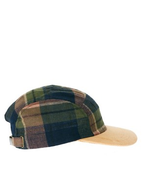 Image 4 ofASOS 5 Panel Cap with Check Detail