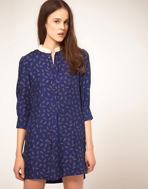 Image 1 ofNW3 Parliament Shirt Dress In Paper Clip Print