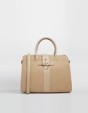 Johnny Loves Rosie Cross Lock Detail Handheld Bag
