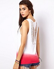 ASOS Premium Dip Dye Vest With Crochet Back