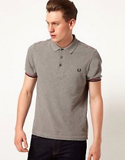 Fred Perry Polo with Needlepunch Tartan Yoke