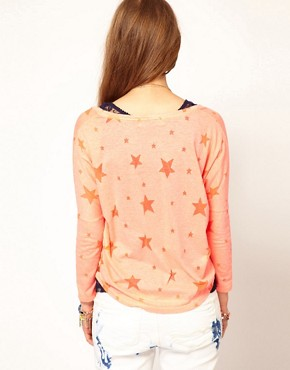 Image 2 ofMaison Scotch Two in One T-Shirt with Star Burn Out