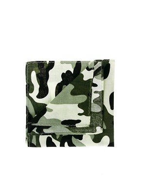 Image 1 ofASOS Camo Pocket Square