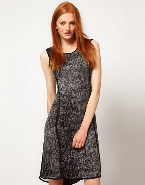 Image 1 ofADAM By Adam Lippes Printed Sleeveless Dress