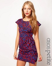 ASOS PETITE Exclusive Tulip Dress In Print
