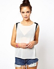 Glamorous Top with Mesh Insert
