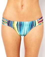 Motel Triple Strap Detail Hipster Bikini Bottom