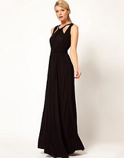 French Connection Maxi Dress With Bead Trim