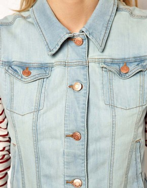 Image 3 ofMango Bleach Wash Denim Sleeveless Jacket
