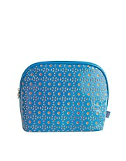 Tender Love &amp; Carry Cut Out Wash Bag -Turquoise &amp; Orange