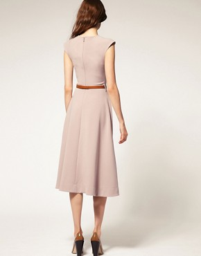 Image 2 ofASOS Midi Dress With Contrast Belt