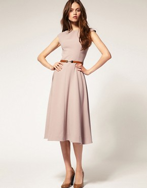 Image 4 ofASOS Midi Dress With Contrast Belt