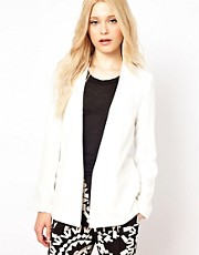 River Island Blazer With Clean Collar