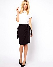 ASOS Wrap Skirt with Utility Detail