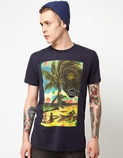 Analog T-Shirt Beach Days Postcard Print