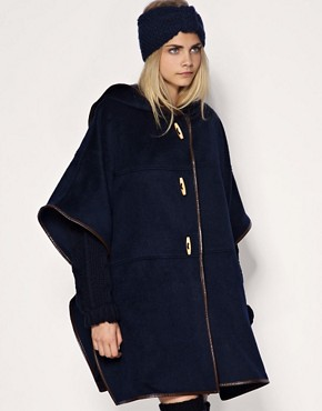 Image 1 of ASOS Contrast Trim Cape