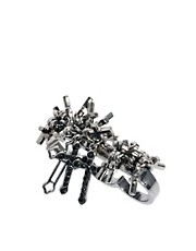 River Island Multi Cross Triple Finger Ring