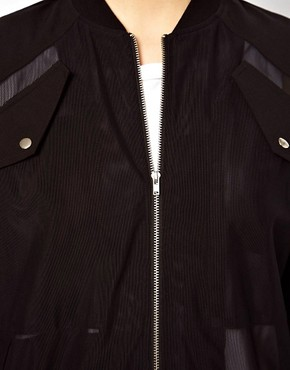 Image 3 ofASOS Bomber Jacket In Layered Mesh
