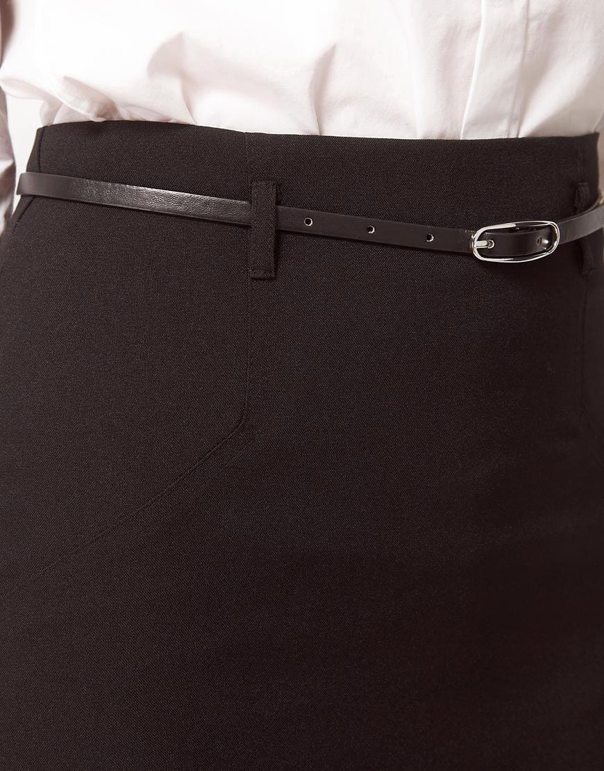 Image 3 ofASOS PETITE Belted Pencil Skirt