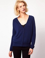 ASOS Woven Back Cardigan