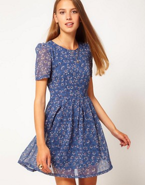 Image 1 of Glamorous Floral Tea Dress