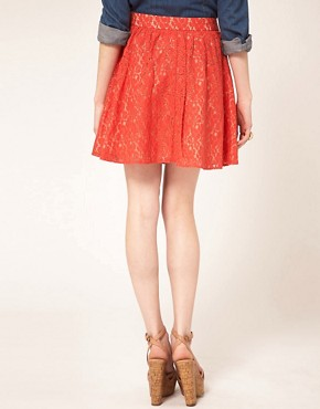 Image 2 ofOasis Lace Skater Skirt