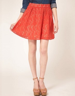 Image 4 ofOasis Lace Skater Skirt