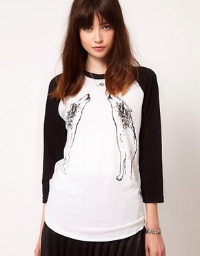 Image 1 ofSimeon Farrar Howling Wolves Raglan T-Shirt