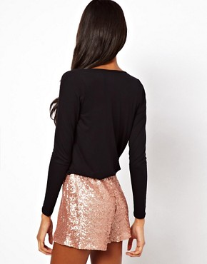 Image 2 ofASOS Playsuit with Sequin Short