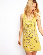 Needle &amp; Thread Vivid Silk Mini Dress