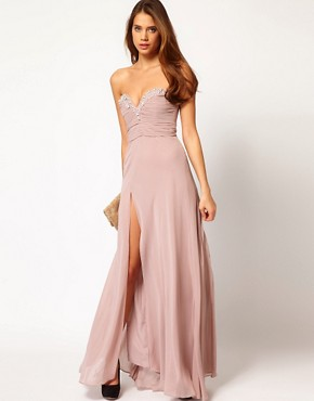 Image 4 ofLipsy VIP Thigh Split Maxi Dress
