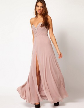 Image 1 ofLipsy VIP Thigh Split Maxi Dress