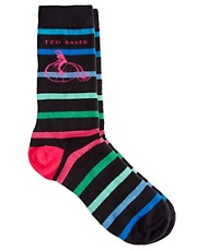 Ted Baker Bicycle Stripe Socks
